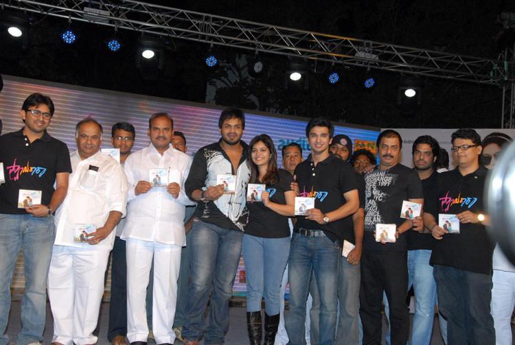 Swati,Manchu Manoj,B.V.S.N. Prasad And Nikhil At Swamy Ra Ra Audio Release Function