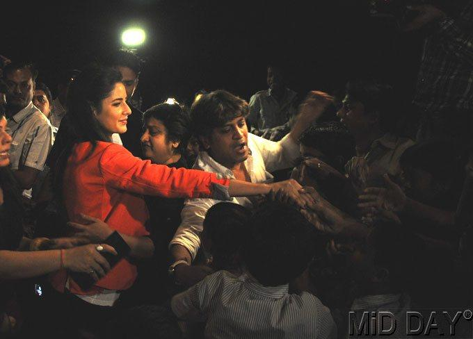 Katrina Kaif Spotted At A Screening Of Main Krishna Hun
