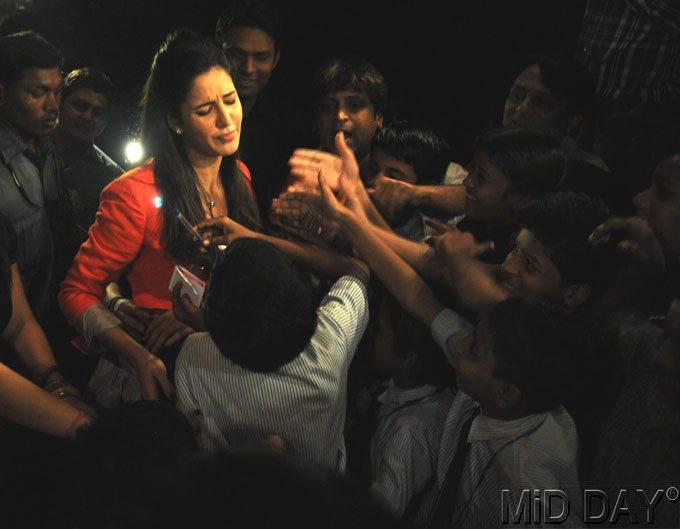Katrina Saddy Expression Snap At A Screening Of Main Krishna Hun