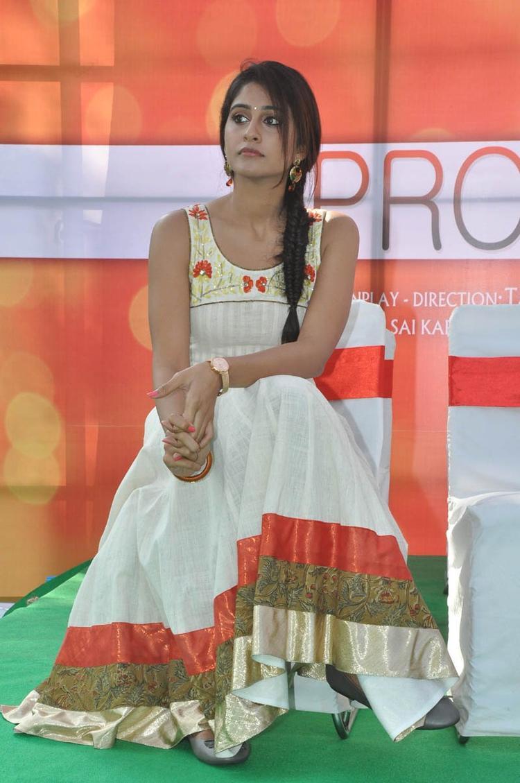 Regina Cassandra Posed During The Madrasi Movie Launch Event