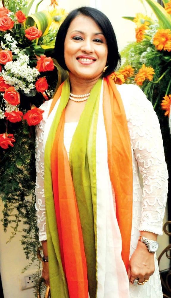 Madhushree Shows Her Patriotic Side At The Music Launch Of Rock On Hindustan