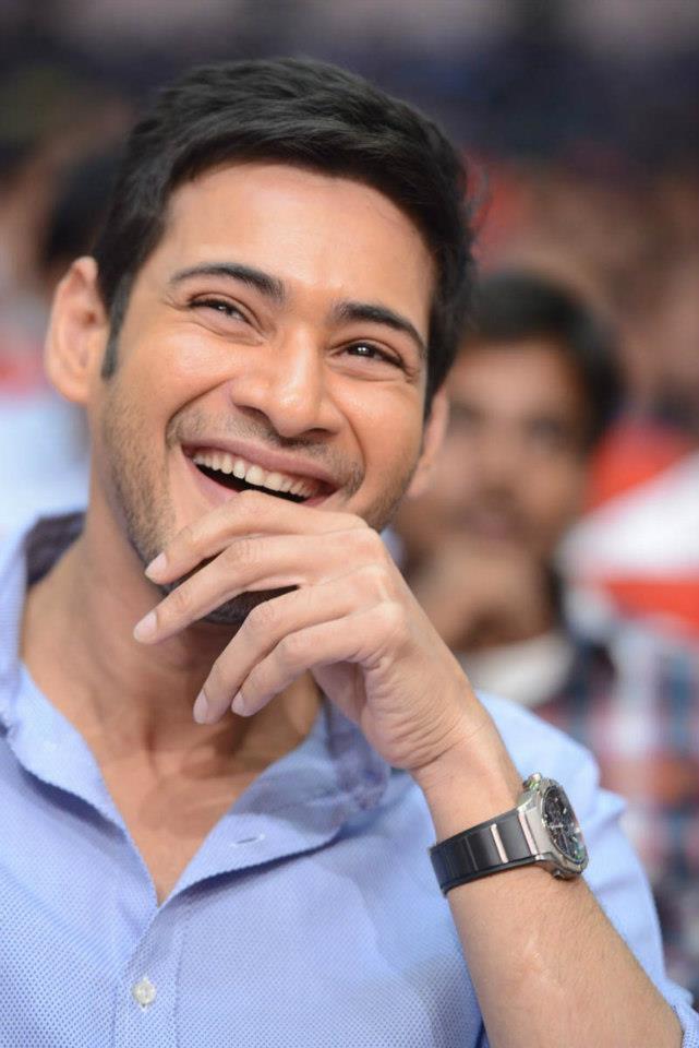 Mahesh Babu Nice Smiling Photo Clicked At SVSC Triple Platinum Disc Function