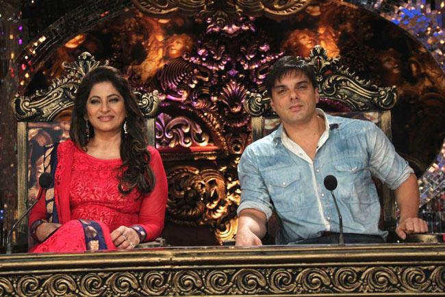 Archana Puran Singh And Sohail Khan On The Sets Of Comedy Circus