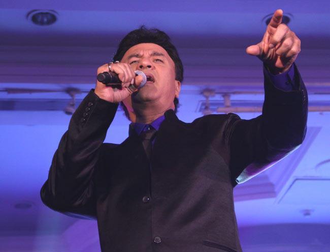 Singer Anu Malik Singing Pose Still