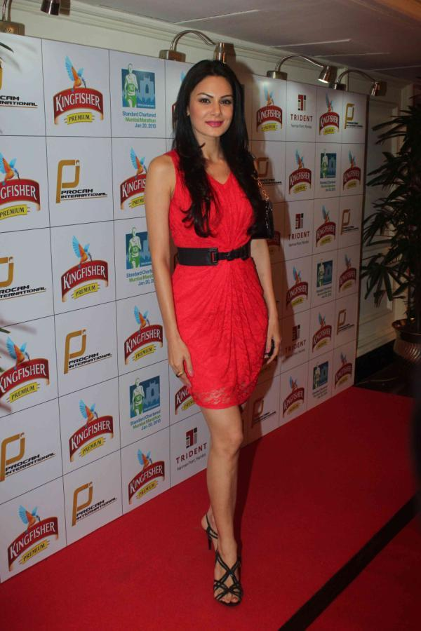 Anchal Sexy Look Photo Clicked At Kingfisher Premium Celebrate Pre Marathon Party
