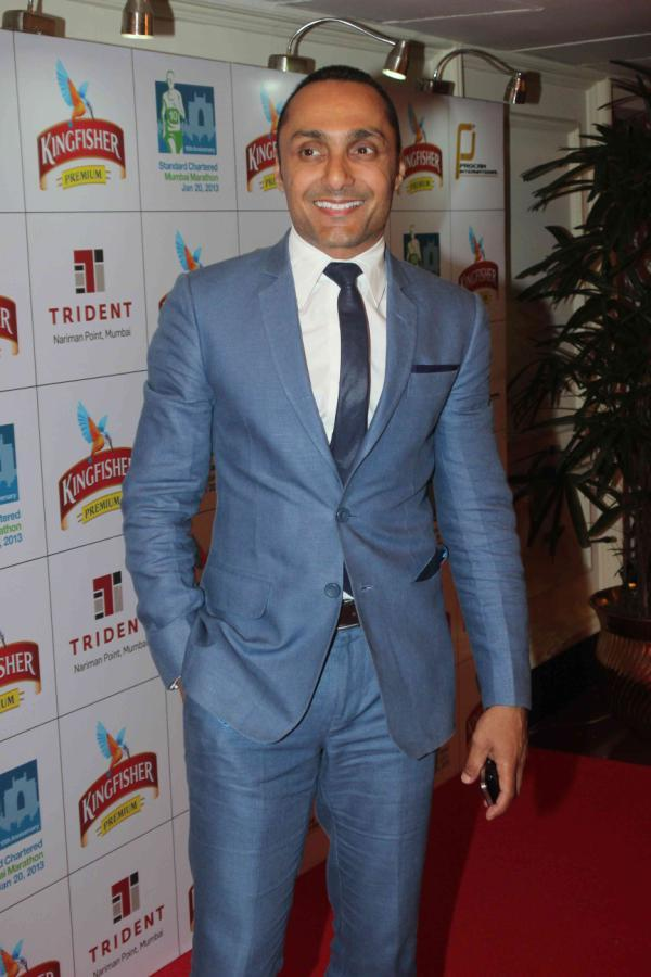 Rahul Looked Dapper In A Suit At Kingfisher Premium Celebrate Pre Marathon Party