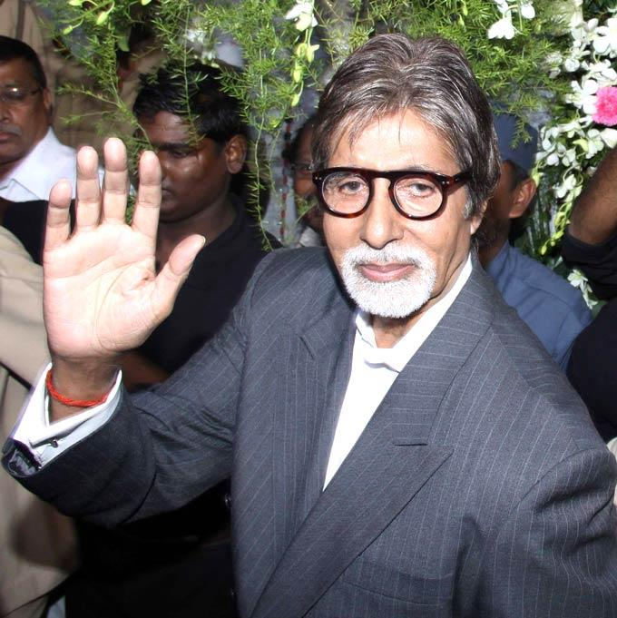 Amitabh Greets The Fan At The Launch Of Virtual Studio