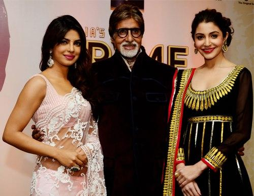 Priyanka And Anushka With The Legendary Big B Pose For Photo At CBS BIG FM Award