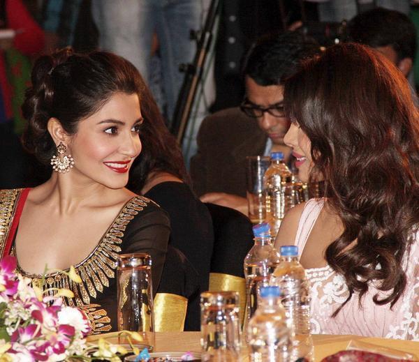 Priyanka And Anushka Snapped At CBS BIG FM Award