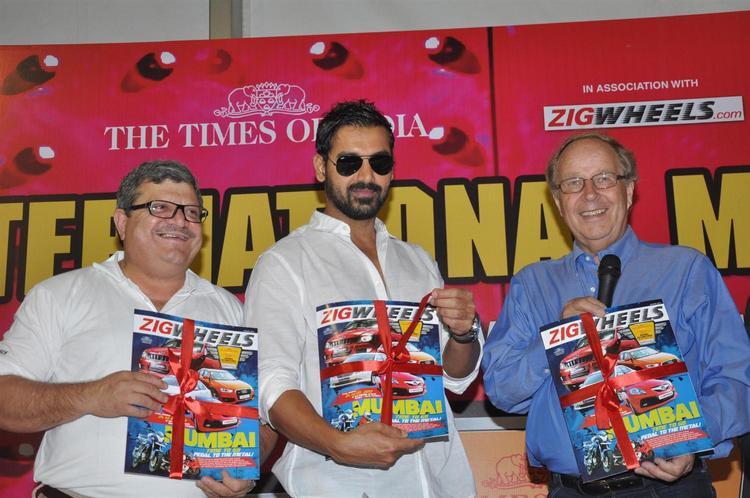 John Abraham With The Magazine At Mumbai International Motor Show Launch