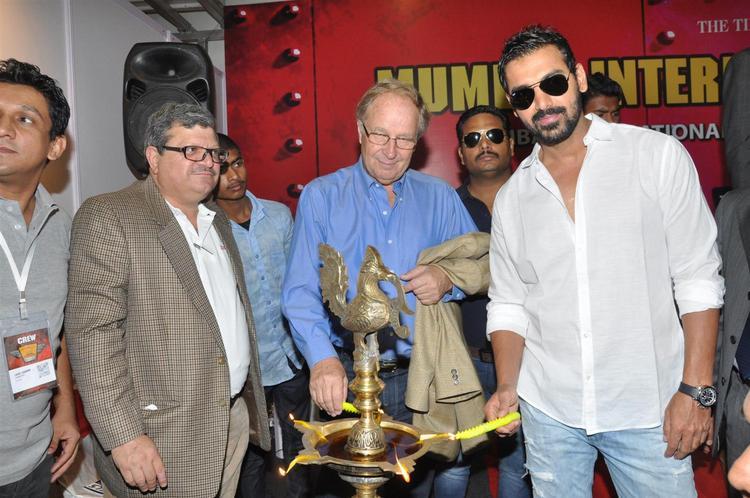 John Lightening The Lamp At Mumbai International Motor Show