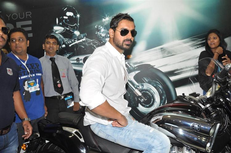 John Looked Marvelous On Bike At Mumbai International Motor Show Launch