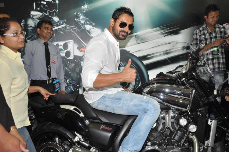 John Snapped During Mumbai International Motor Show Launch