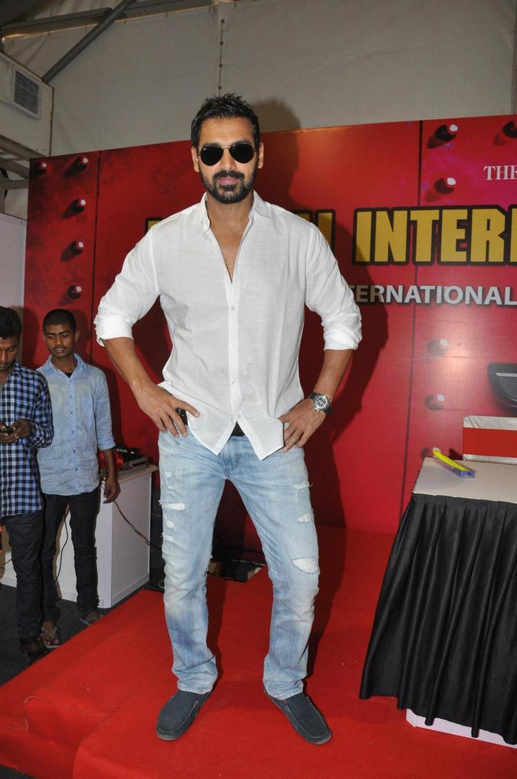 John Spotted At Mumbai International Motor Show Launch