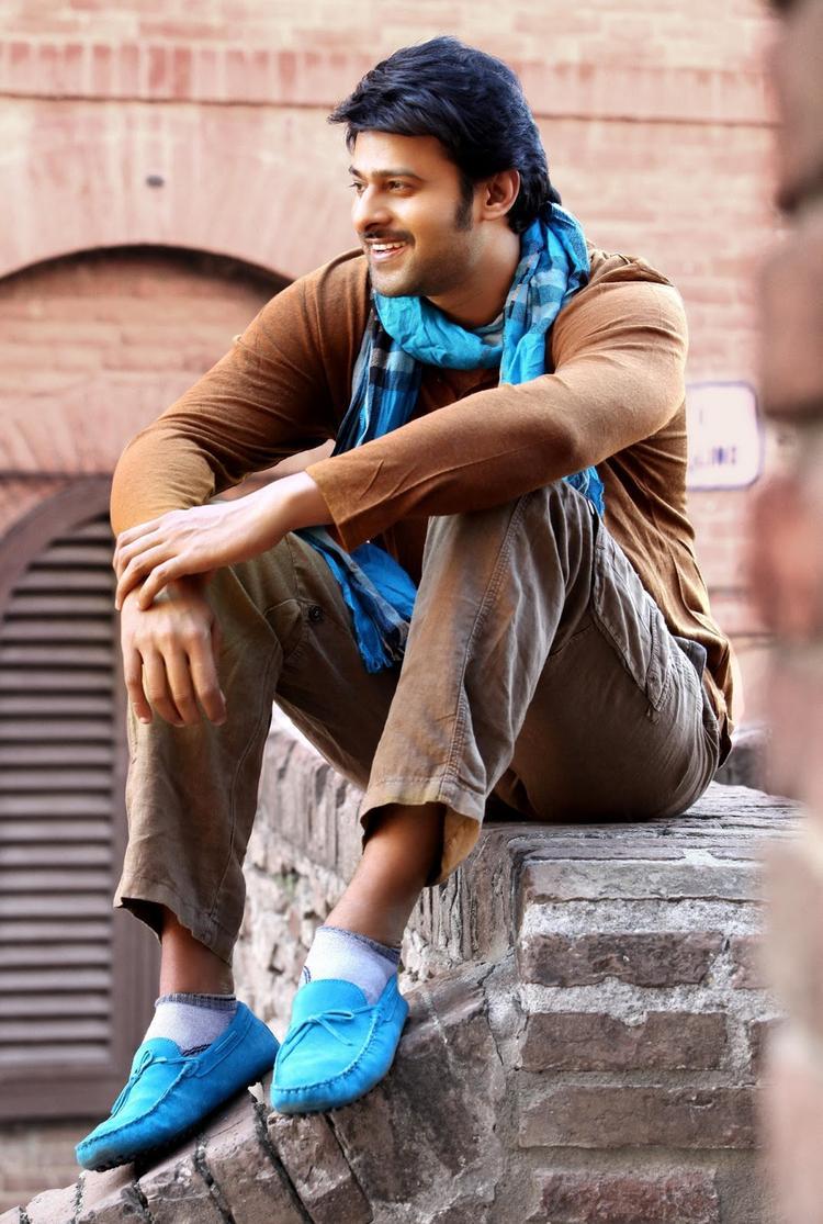 Prabhas Cute Smiling Photo From Telugu Movie Mirchi