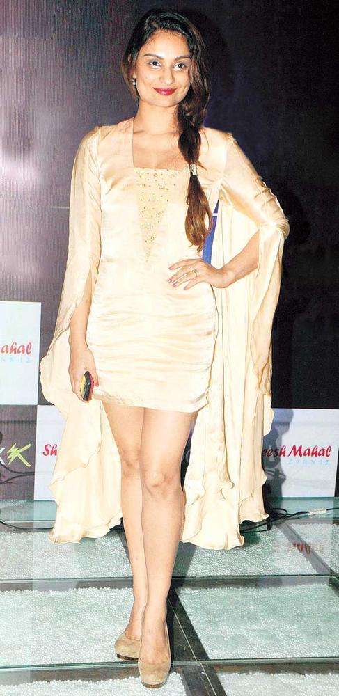 Dimpy Mahajan Strikes A Pose At The Launch Of Shock Club