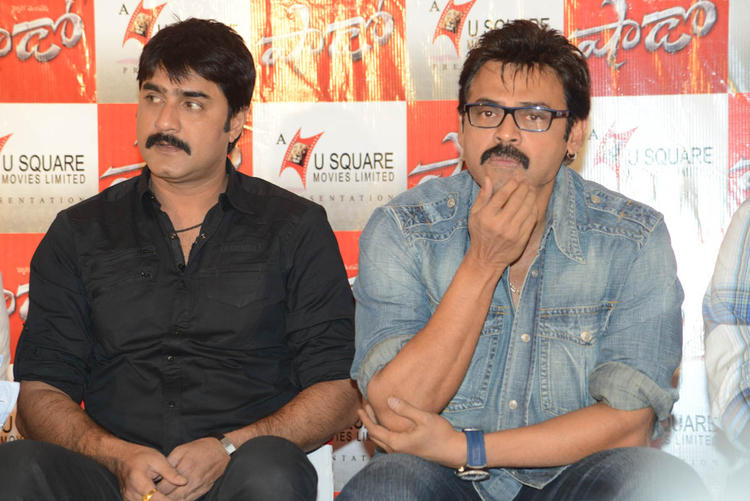 Srikanth And Venkatesh Snapped At Telugu Movie Shadow Press Meet