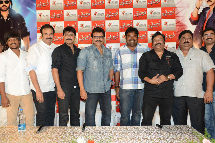 The Team Member Of Shadow Posed For Camera At Telugu Movie Shadow Press Meet