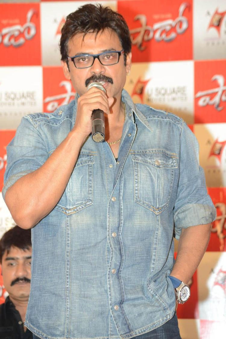 Venkatesh Speak Out Photo Clicked At Telugu Movie Shadow Press Meet