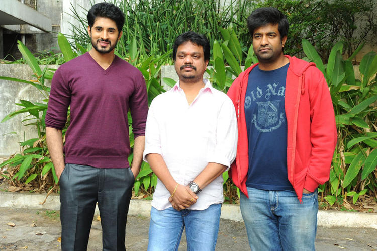 Arvind And Vennela With A Friend Strike A Pose At Biscuit Movie Opening