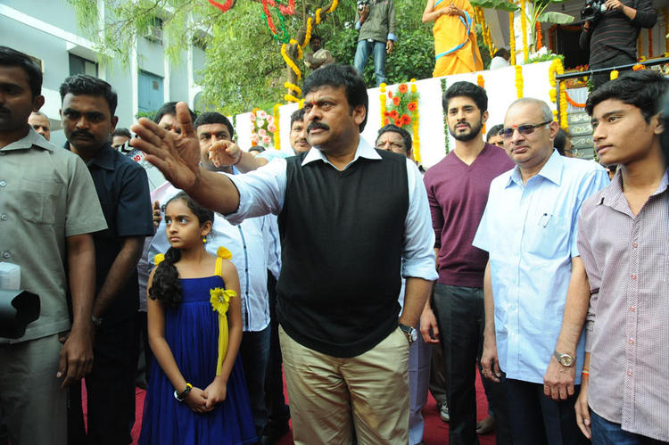 Chiranjeevi And Arvind Arrived At Biscuit Movie Opening