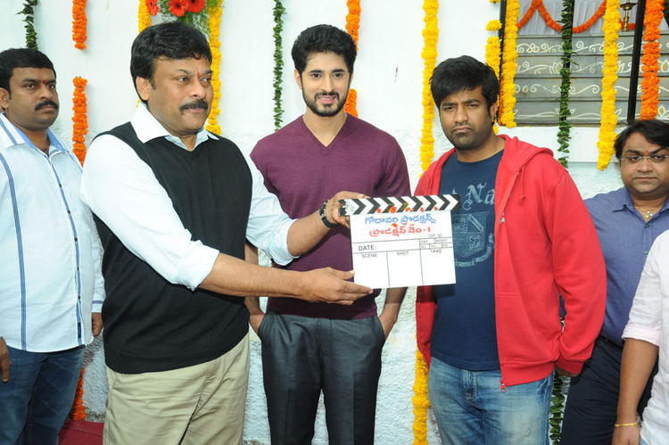 Chiranjeevi Clap For Arvind And Vennela At Biscuit Movie Opening And Puja