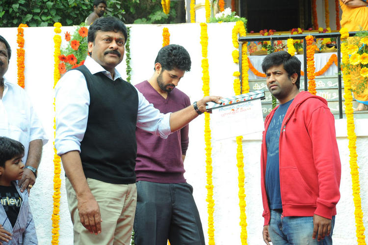 Chiranjeevi Give The First Take For Arvind And Vennela At Biscuit Movie Opening