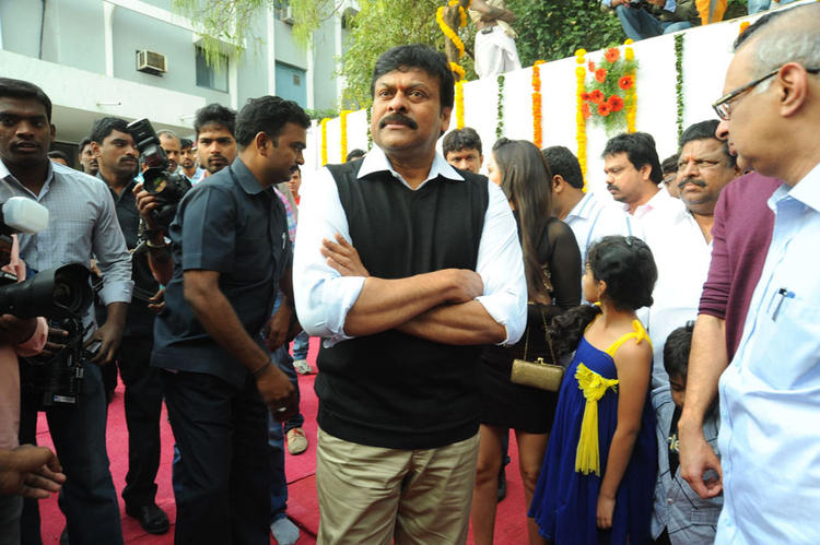 Chiranjeevi Make An Appearance At Biscuit Movie Opening And Puja