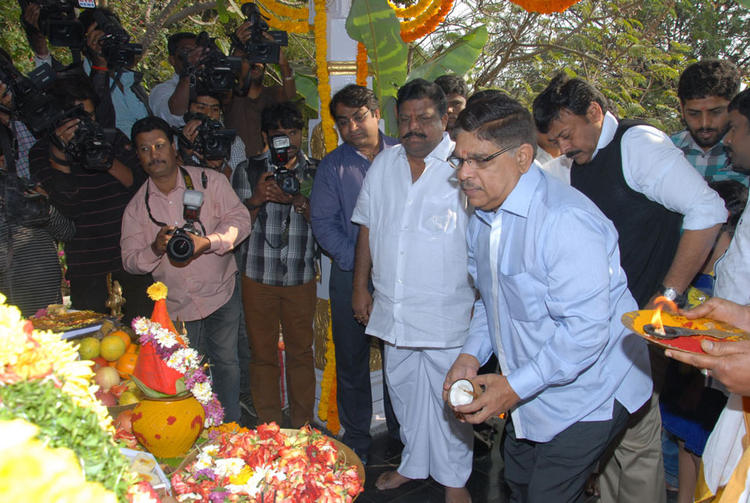 Megastar Chiranjeevi Spotted At Biscuit Movie Opening