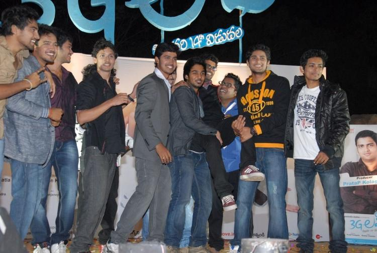 The 3g Love Movie Team On Stage Photo Clicked At The 3G Music Launch Event