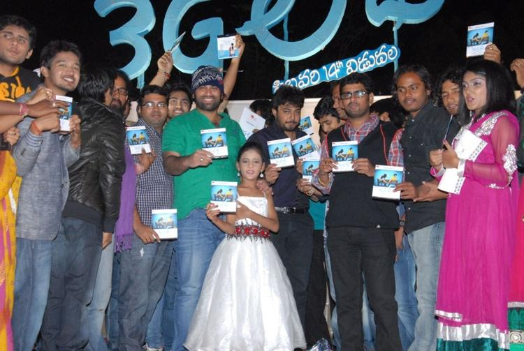 3g Love Team Members Pose With Audio CD At The 3G Music Launch Event