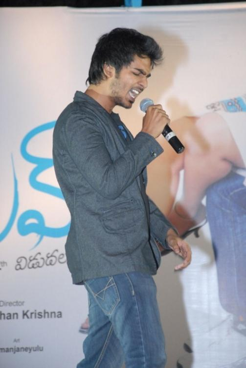 Sandeep On Stage Snapped During Sing A Song At The 3G Music Launch Event