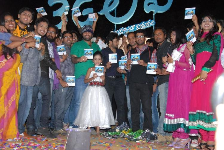 Team 3g Love Movie With Audio CD Pose For Camera At The 3G Music Launch Event