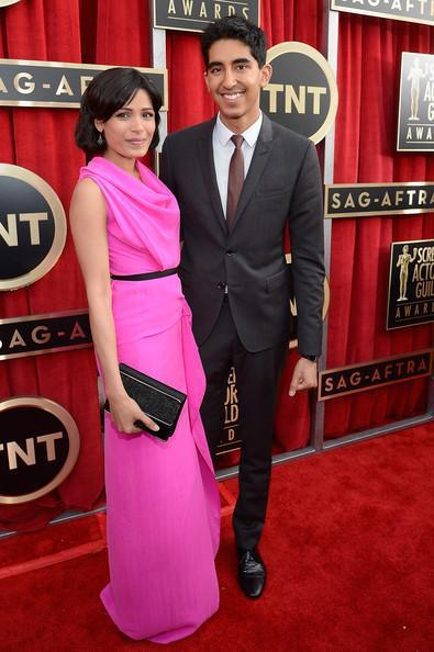 Freida Pinto And Dev Patel In Red Carpet Attend The 19th Annual SAG Awards 2013