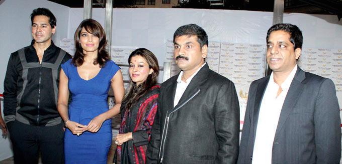 Dino,Bipasha And Sachin With Wife Sangeetha Snapped At The Launch Of Dino Moreas Fitness Product