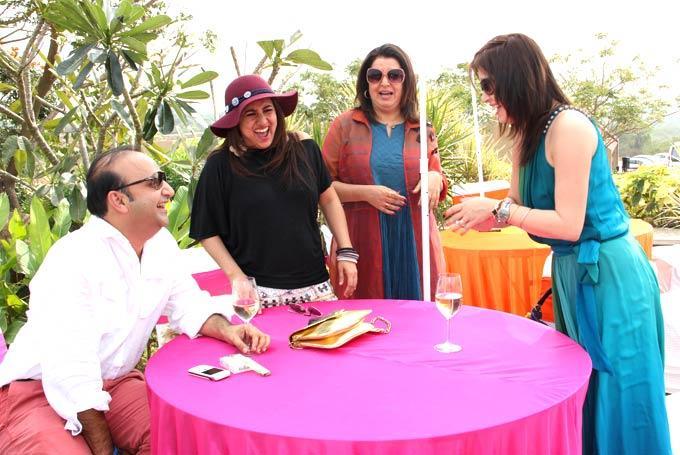 Farah Khan With Other Celebs Smiling Photo At Grover Zampa At Nashik