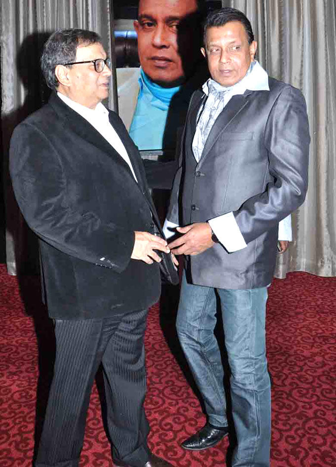 Subhash With Mithun Posed At Subhash Ghai Birthday Bash
