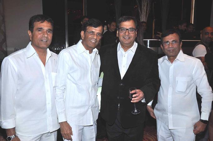 Subhash With The Mustan Brothers Abbas,Salim And Hussain At Subhash Ghai Birthday Bash