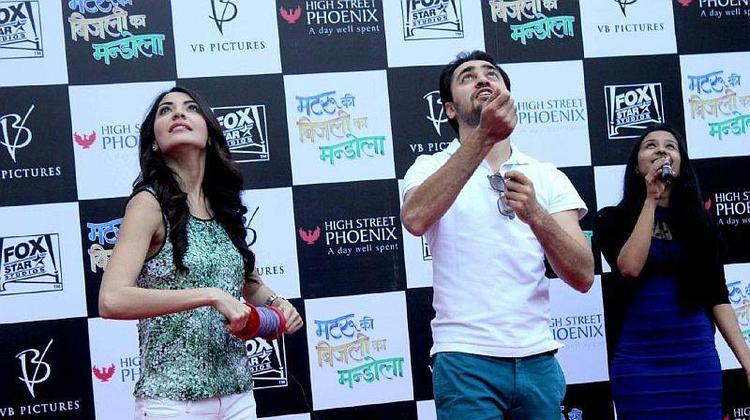 Imran And Anushka Attend The Kite Flying Event To Promote MKBKM