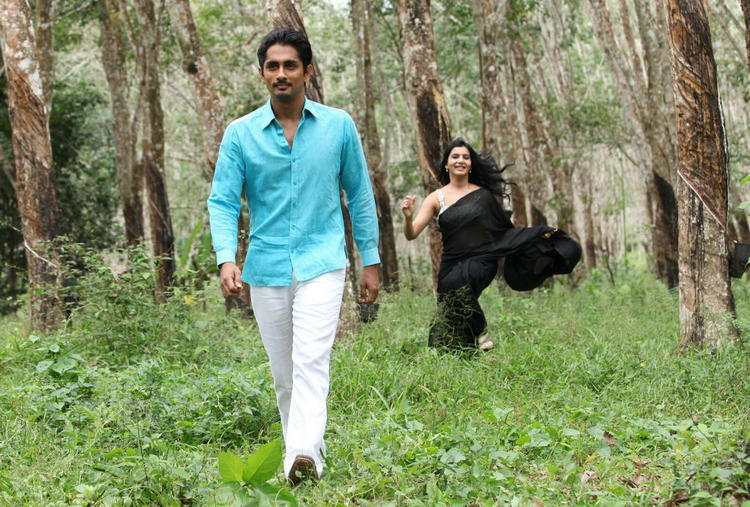 Siddharth And Samantha Dashing Look In A Song In Movie Jabardasth