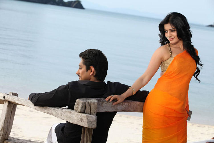 Siddharth And Samantha Sexy Expression Photo In A Song In Movie Jabardasth