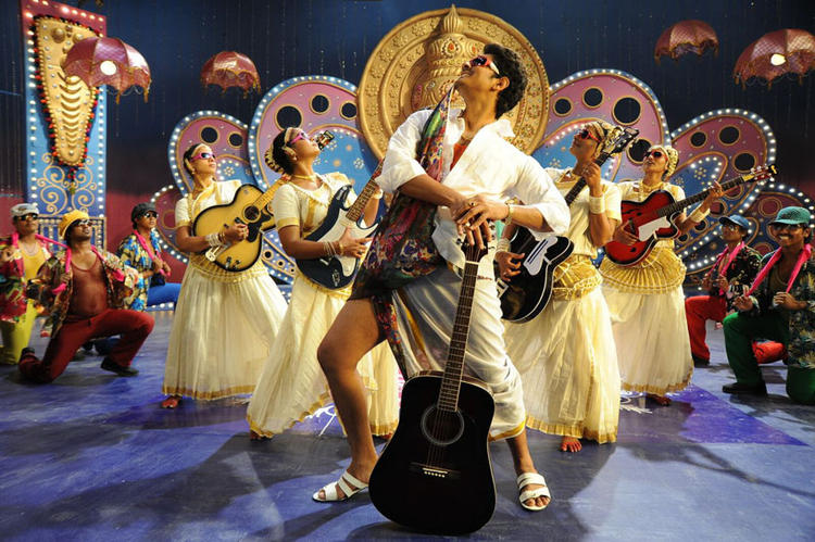 Siddharth Dancing With A Guitar In Movie Jabardasth
