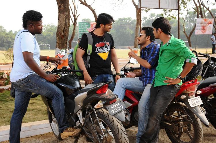 Vijayendra,Shashank And Dinesh Photo On Bike Stand From Movie Mandodari