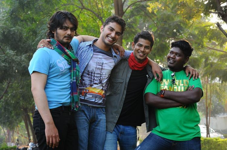 Vijayendra,Shashank And Dinesh Smiling Photo From Movie Mandodari