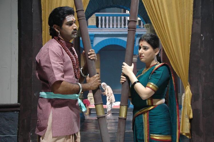 Tarakaratna And Archana In A Deep Thought In Movie Maha Bhaktha Siriyala