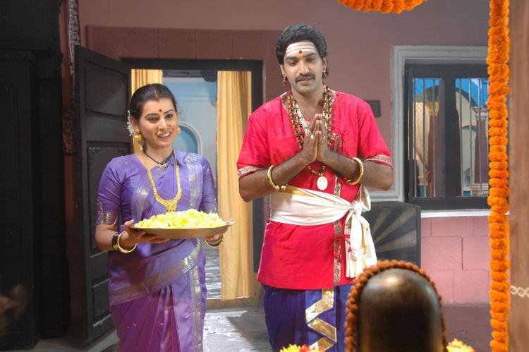 Tarakaratna And ArchanaPraying Lord Shiva Photo From Movie Maha Bhaktha Siriyala