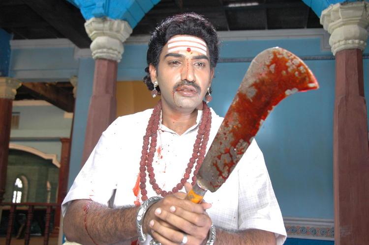 Tarakaratna In A Angry Mood With A Sword In Movie Maha Bhaktha Siriyala