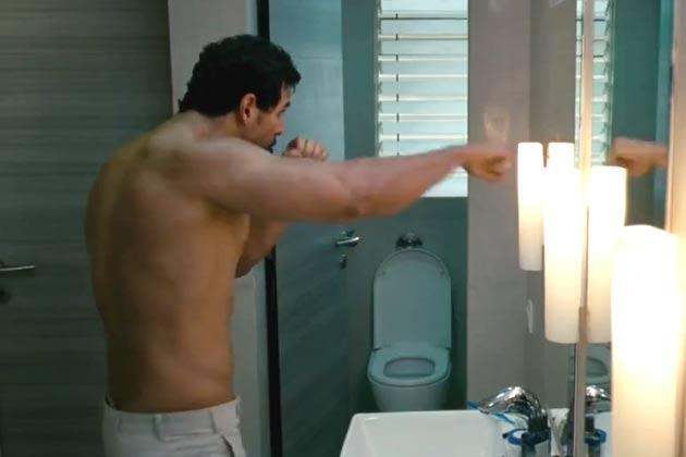 John Abraham Shirtless Hot Look Still From I Me Aur Main Movie