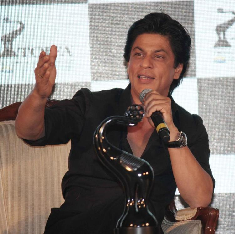 Shahrukh Khan Speaking During The TOIFA Vancouver 2013 Launch Event
