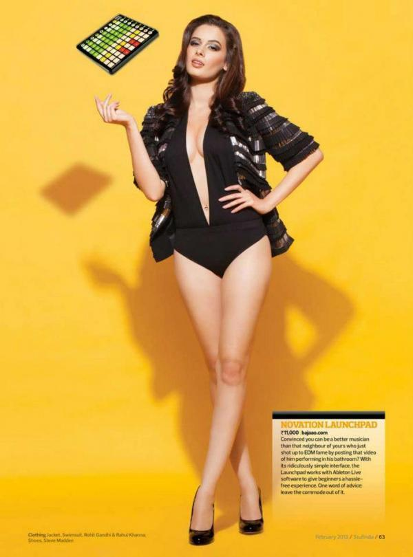 Evelyn Sharma Sexy Photo Shoot For Stuff India Feb 2013